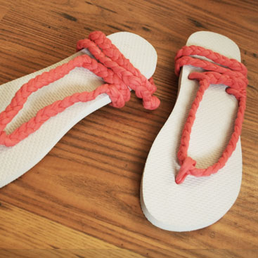 DIY flip flops small
