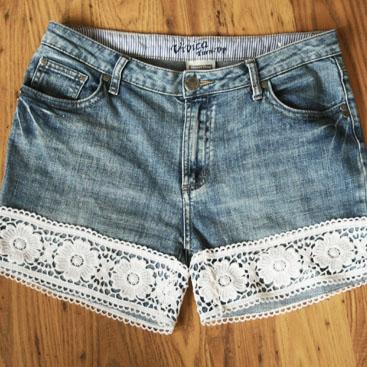 diy lace shorts small