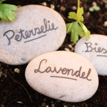 garden marking stones small
