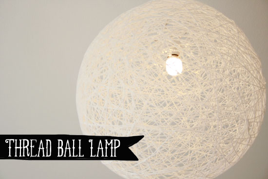 DIY - Thread ball lamp | By Wilma Diy Ball Lamps on diy bed, diy candle holders, diy projects, diy lego bathroom, diy couch, diy garden, diy table, diy decor, diy bearing, diy phone, diy desk, diy easy things to make with household items, diy glow stick, diy camera, diy wall art, diy light, diy bedroom, diy chandelier, diy lampshade, diy curtains,