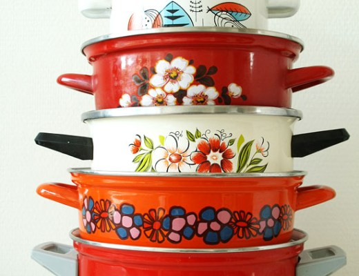 Thrift store find: Pretty vintage cooking pans!