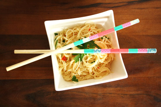 washi tape chopsticks