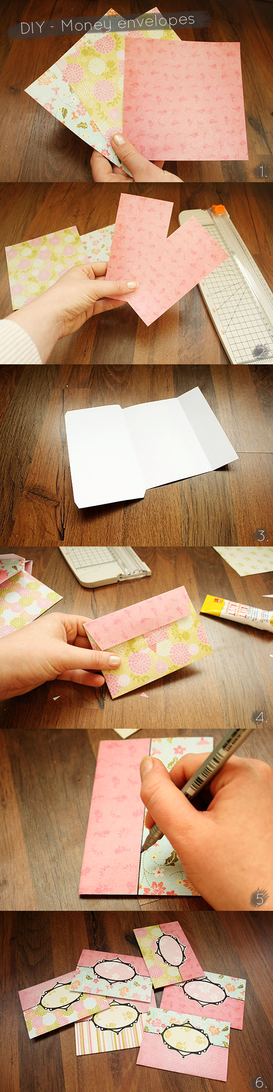 DIY - Money envelopes