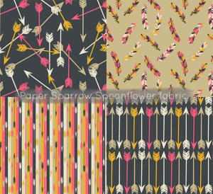 Love this - Paper Sparrow Spoonflower fabric