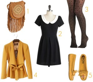 Cute mustard yellow fall outfit
