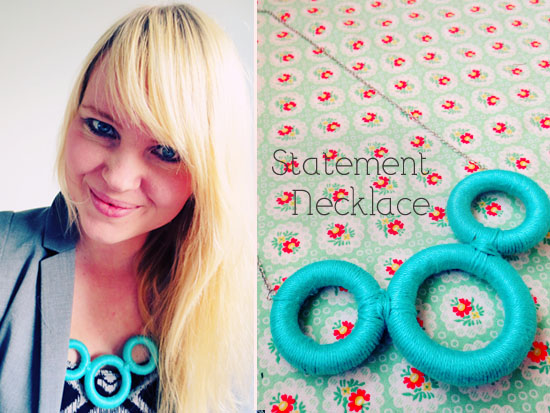 This DIY statement necklace features something you will find in (almost) every thrift store: wooden curtain rings! @By Wilma