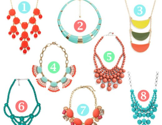 make a statement (necklace) with color