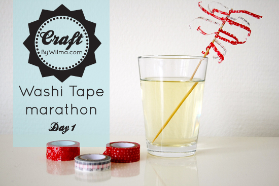 10 day washi tape marathon. Day 1: washi tape cocktail stick