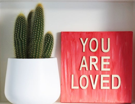 DIY - You are so loved 3D quote artwork