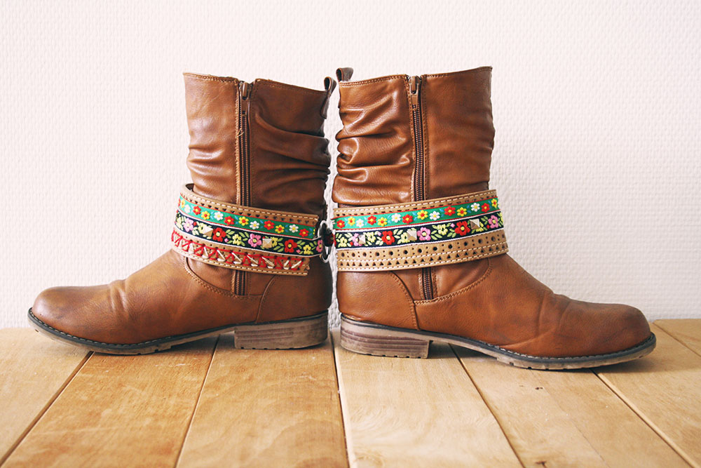 Boho boot belt diy