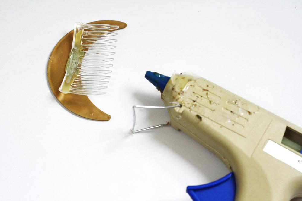 DIY - Crescent moon hair comb