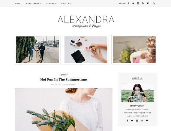 Alexandra wordpress theme Etsy