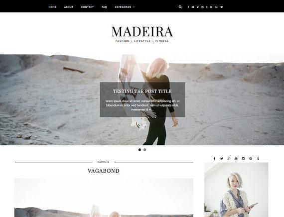 Madeira wordpress theme Etsy