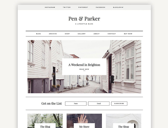 Pen & Parker wordpress theme Etsy
