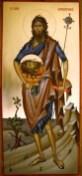 Sfantul Ioan Botezatorul icoana pictata pe lemn de vanzare