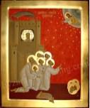 Martiriul Sfintilor Brancoveni,icoana pictata pe lemn