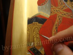 Detail Saint Catherine the Great Martyr, byzantine icons for sale