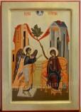 Icoana pictata - Buna Vestire.The Annunciation