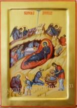 Icoana pictata - Nasterea Domnului.The Nativity of Christ