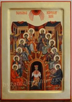 Icoana pictata - Pogorarea Sfantului Duh.Pentecost, or Whitsun
