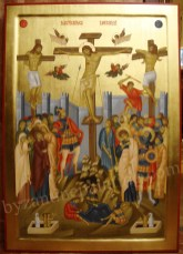 The Crucifixion of Our Lord, byzantine icon for sale