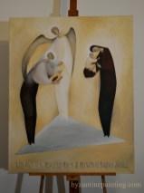 Saint Luke contemporary iconography. Liviu Dumitrescu