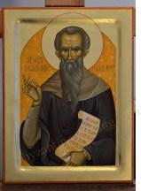 Saint Ioannikios bzyantine painted icon