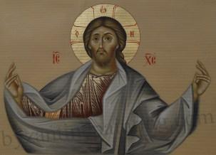 Iisus Hristos Pantocrator Icoana pictata