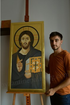 Jesus Christ Pantocrator icon from mount sinai