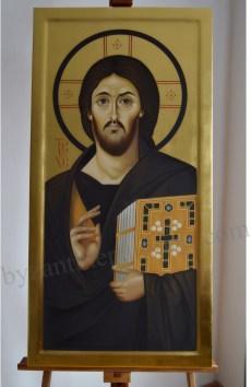reproducere icoana Iisus Hristos pictata in encaustica