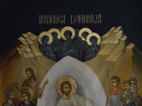 Resurrection of Christ icon painted