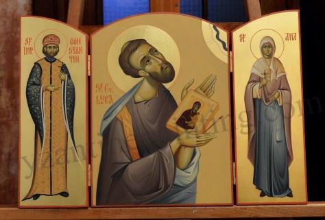Triptic Sf Luca, Sf Constantin cel Mare ,Sf. Ana
