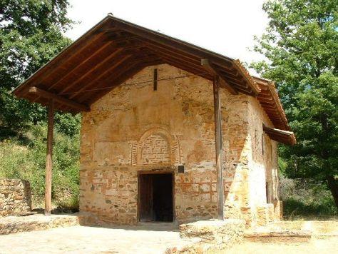 Mural painting Kurbinovo Macedonia (1)