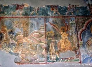 Mural painting Kurbinovo Macedonia (