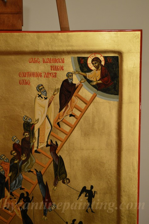 Icoana Scara Virtutilor Icon The Ladder of Divine Ascent (2)