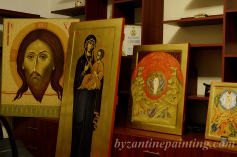 Icoana pictata Maica Domnului cu Pruncul (3)