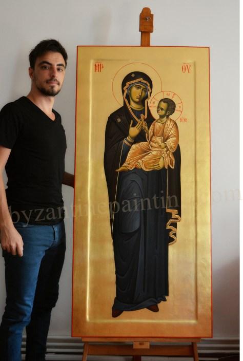 Icoana pictata Maica Domnului cu Pruncul (6)