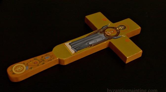 Cruce de binecuvantare pictata