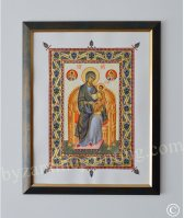Religious miniature. The Mother of God Enthroned (4)