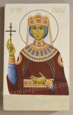 Sfanta Imparateasa Elena. Icoana pictata pe lemn 2
