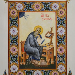 Painted miniature Saint John the Evangelist (2)