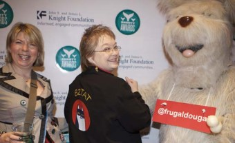 BZTAT and Frugal Dougal with staff at the Shorty Awards