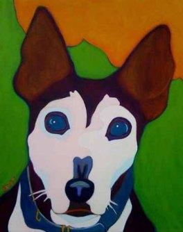 Pepi Smart Dog Custom Pet Portrait