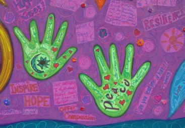Alzheimer's Association Mural close-up