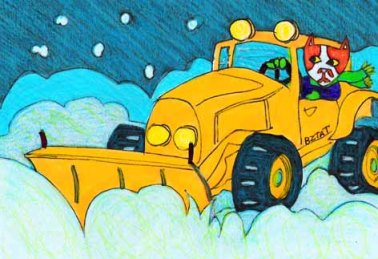 Brewskie Butt snow plow drawing