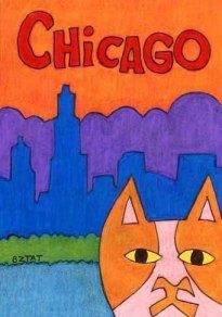 Brewskie-Butt-cat-drawing-Chicago-skyline