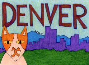 Brewskie-Butt-ginger-white-cat-Denver-Colorado-drawing-