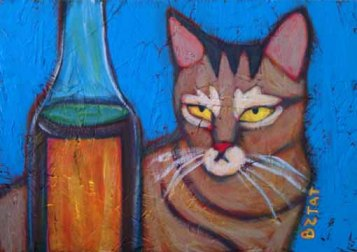 brown-gray-striped-cat-painting-bztat