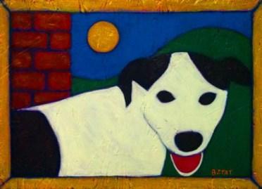 White-black-spotted-dog-folk-art-painting-BZTAT