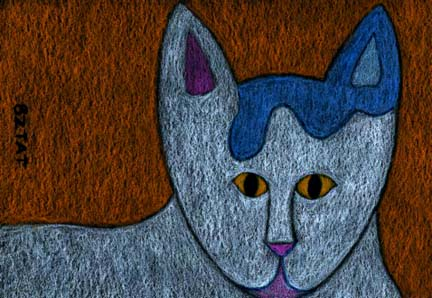 Okey-October-White-cat-drawing-BZTAT